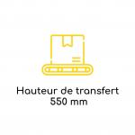 Hauteur de transfert 550mm